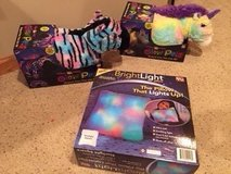 Zebra and Unicorn Glow Pillow Pets,  Bright Light Pillow:  ALL NEW IN BOX in Lockport, Illinois