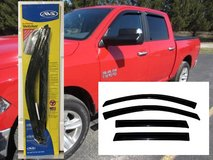 REDUCED Ram 1500 Crew Cab and Mega Cab Ventvisor 4 Piece Set in Beaufort, South Carolina