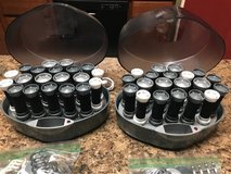 2 Sets REMINGTON SOLUTIONS Ionic Wax Core Hot Rollers Velvet Curlers #KF-20i With Clips and 2 Us... in St. Charles, Illinois