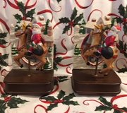 Santa on Reindeer Musicbox Bookends in Camp Lejeune, North Carolina