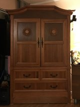 sold wood tv armoire in Schofield Barracks, Hawaii