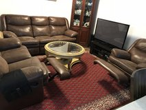 Three Sectional Leather Couch/ Reclyner in Wiesbaden, GE
