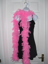 Fluffy Feather Boa Scarf - Pink in Lakenheath, UK