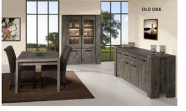 United Furniture - Silver City Dining Set in Old Oak - China +Table +4 x Chairs + Delivery in Stuttgart, GE