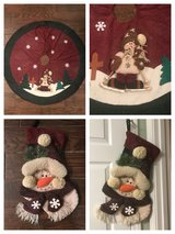 Snowman tree skirt and snowman decorative stocking in Perry, Georgia