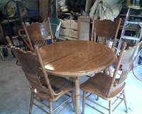 oak table and chairs in Cherry Point, North Carolina