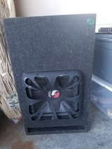 Kicker Solo-Baric subwoofer with Custom Made Box in Cherry Point, North Carolina
