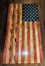 Hand crafted wooden American Flag in Fort Leonard Wood, Missouri