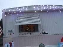 5 sets of blue and white outdoor lights  length is 38 feet in Alamogordo, New Mexico