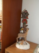 bird house with cardinal and deer in Alamogordo, New Mexico