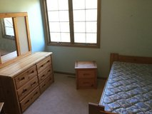 4Pc. Solid Wood Bunk Bed Set- Twin over Full sized Bed, Dresser W/Mirror & Nightstand (incl. ful... in Bolingbrook, Illinois