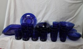 Avon Cobolt blue dinner ware over 40 pieces  made in France in mint condition in Lake Charles, Louisiana