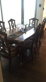 Dining room table with six chairs in Bolling AFB, DC