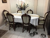 Quality dining room table and chairs in Plano, Texas