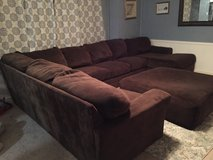 Large brown sectional sofa in Baytown, Texas