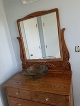 Oak Vanity with mirror in Fort Knox, Kentucky