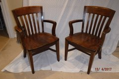 Hardwood Office Chairs (2) in Bolingbrook, Illinois