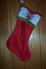 Christmas Stocking Red, Green and white in The Woodlands, Texas