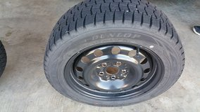 Dunlop winter tires w/rims 205/55R16 in Fort Campbell, Kentucky