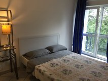 German Queen bed frame and mattress in Ramstein, Germany