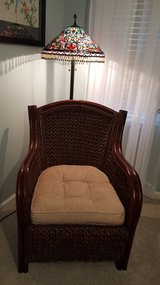 Large Wicker Chair with Cushion in Cherry Point, North Carolina