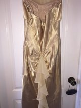Gold colored long dress in Tampa, Florida