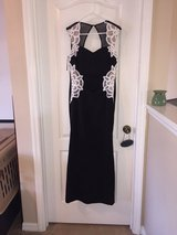 Black and white long dress in Tampa, Florida