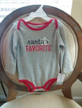 SANTA'S FAVORITE  long sleeve onesie in Conroe, Texas