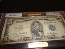 1953a $5 bill graded by sgs fn in Clarksville, Tennessee