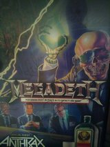 autographed Megadeth poster in Kissimmee, Florida