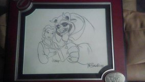 autographed beauty and the beast sketch in Kissimmee, Florida