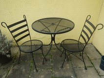 Metal Bistro Table and two chairs in Ramstein, Germany