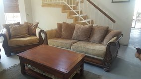 Three Piece Mission Style Couch Set in Camp Pendleton, California