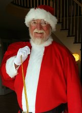 Santa Claus comes to Old Towne in Fort Leonard Wood, Missouri