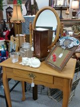 Vanity with oval mirror in Fort Leonard Wood, Missouri