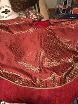 Beautiful Red and Gold Tree Skirt in Leesville, Louisiana