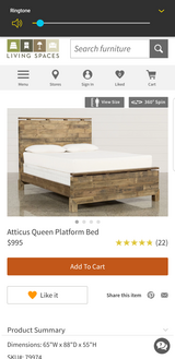 The bed from the table and bed add in Oceanside, California