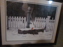 "Framed Art by Mildred Sands Kratz ""The Visitor"" in Oswego, Illinois"