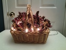 Lighted Christmas Pine Cone Basket in Eglin AFB, Florida