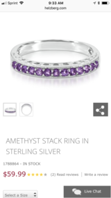 Amethyst Stack Ring in Conroe, Texas