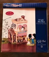 "Like NEW Dept 56 ""Wright Bike Shop"" Gift Set #55314 Retired 2003, can be personalized. in Naperville, Illinois"