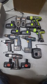 Large collection of power Drills and Impact Driver: Craftsman, Kawasaki and Bosch in Barstow, California