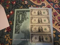 uncut sheet of 2001 year $1 bills 4ea in Fort Campbell, Kentucky