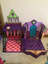 Monster High Dolls set high school portable house in Fort Knox, Kentucky