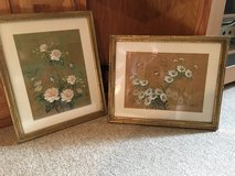 Paintings on cork florals in Shorewood, Illinois