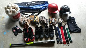 Youth baseball equipment in Kingwood, Texas