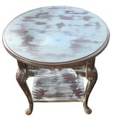 Vintage Shabby Chic Accent Table - gray and white in Conroe, Texas