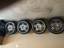 12 inch BMW Rims and tires/staggered chrome. In excellent condition. Must go ASAP!!! Only seriou... in Fort Campbell, Kentucky