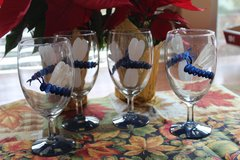 Hand painted drinking glasses in Alamogordo, New Mexico