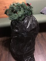 Large bag of Christmas garland in Macon, Georgia